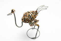 Wire ostridge. A very nice African craft work of a ostridge Stock Photography