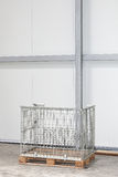 Wire Pallet. Wire Mesh Pallet Box in Warehouse Stock Photos