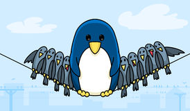 Wire penguin Royalty Free Stock Photos