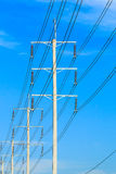 Wire pole at high voltage electrical post Royalty Free Stock Photography