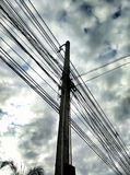 Wire Post Sky Mess Outdoor Royalty Free Stock Images