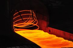 Wire rolling mill coil forming laying head Stock Photography