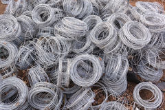 Wire Rolls Construction Royalty Free Stock Photography