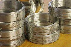 Wire rolls detail Royalty Free Stock Image