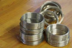 Wire rolls new Stock Photo