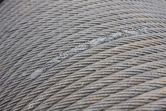 Wire rope. Texture - heavy duty steel wire cable or rope Stock Photography