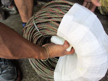 Wire rope cable Royalty Free Stock Images