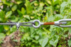 Wire rope clip and turnbuckle Royalty Free Stock Image