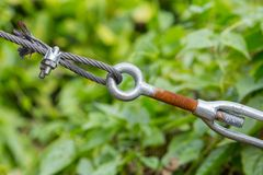 Wire rope clip and turnbuckle Stock Image
