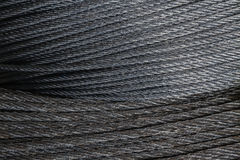 Wire rope. Stock Photo