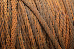 Wire rope for heavy industrial use Royalty Free Stock Photo