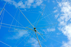 Wire rotating directional antenna Royalty Free Stock Photos