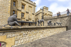 Wire Sculptures At The Tower Of London Royalty Free Stock Image