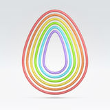 Wire seven contoured egg shape Stock Photography