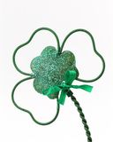 Wire Shamrock. Green shamrock macro Stock Photography