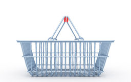 Wire shopping basket Stock Photo