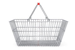 Wire shopping basket Stock Images