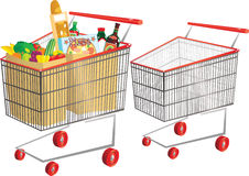 Free Wire Shopping Carts Stock Photography - 72357292