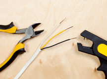 Wire snipping tools Royalty Free Stock Photos