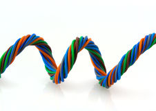 Wire spiral Royalty Free Stock Images