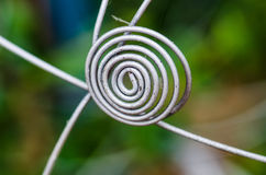 Wire spiral close up. Abstract wire spiral close up Stock Photography