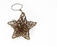 Wire Star Ornament. Wire star Christmas tree ornament Royalty Free Stock Images