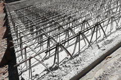 Wire of steel rebar Stock Photo