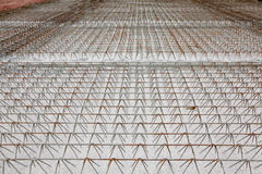 Wire of steel rebar Royalty Free Stock Images