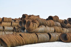 Wire stock. This is the building materials used Stock Image