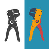 Wire strippers, set icon. Stock Photography
