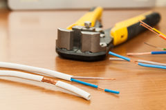 Wire Stripping. Royalty Free Stock Image