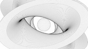 Wire Surface Formed In The Shape Of Eye stock video