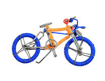 Wire toy bicycle Stock Images
