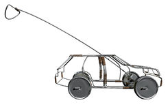 Wire Toy Car Side Stock Image
