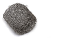 Wire wool roll Royalty Free Stock Image