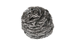 Wire wool scourer. Over a white background Royalty Free Stock Photography