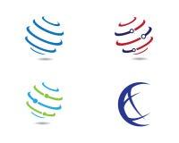 Wire World Logo Template vector icon. Illustration design Stock Photo