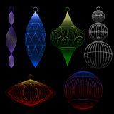 Wire xmas ornaments Royalty Free Stock Photo