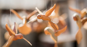 Wired birds puppets. Bunch of wired birds puppets in a shop in Cuba. nPhoto taken on: Sep, 2015 royalty free stock photos