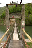Wired bridge. Ovcar and Kablar, Serbia stock images