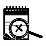 Wired calendar icon image Stock Photography