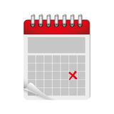 Wired calendar icon image Stock Images