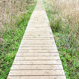 Wired decking foot path Royalty Free Stock Photo