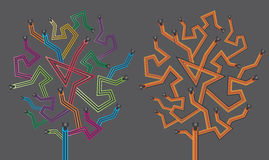 Wired design tree  Royalty Free Stock Image