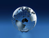 Wired earth globe Royalty Free Stock Photos