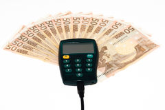 Wired electronic internet banking Royalty Free Stock Photo