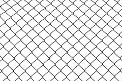 Wired fence. On white background Stock Photos