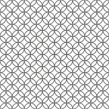 Wired Fence. Black Ring Cage on White Background. Royalty Free Stock Photos