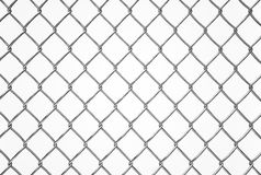 Wired fence pattern on white background Stock Photo