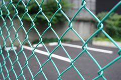Wired fence wall. Royalty Free Stock Images